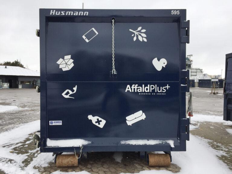 Udsmykning af AffaldPlus containere
