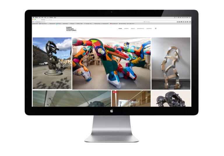 Website til skulptør Bjørn Poulsen