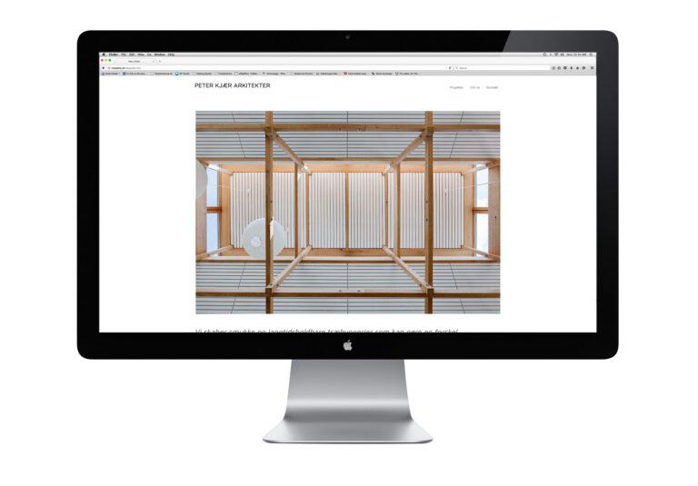 Website til Peter Kjær Arkitekter