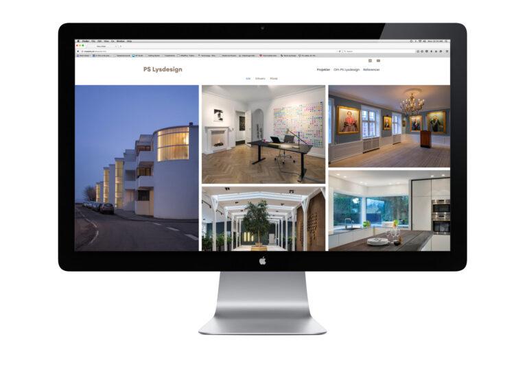 Website til PSLysdesign